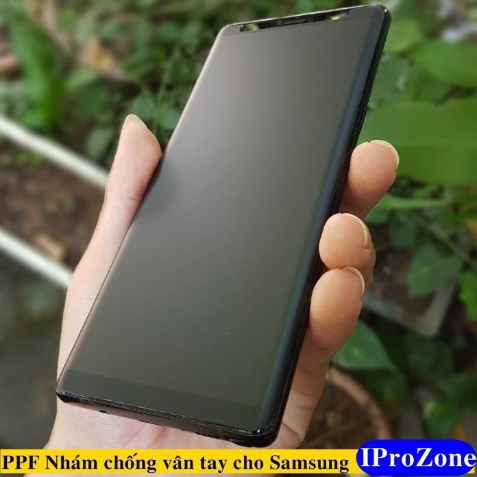 Dán PPF nhám chống vân tay dành cho Samsung  Note 10 Plus , Note 8 , Note 9 , S10 Plus mặt trước sau