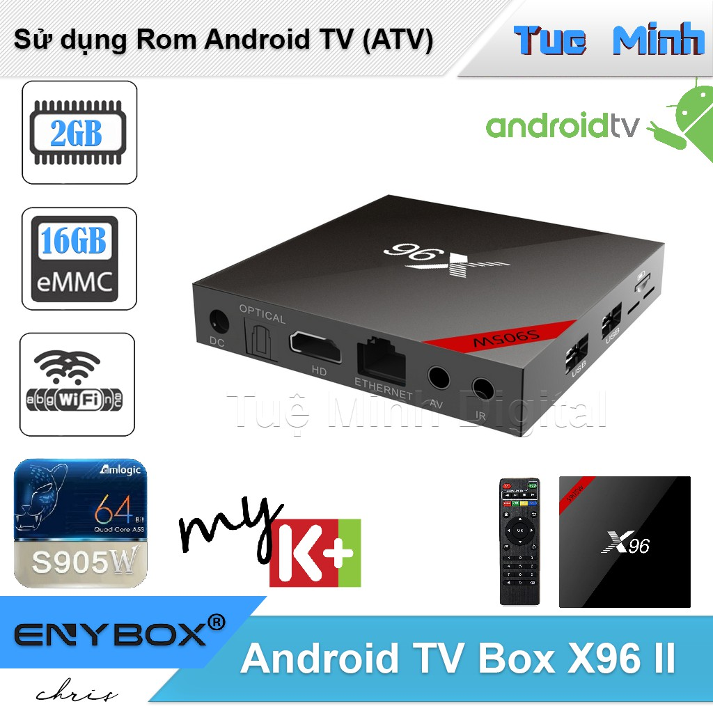 Android TV Box X96 new phiên bản 2G Ram, 16G bộ nhớ trong, CPU S905W, Rom Android TV - 3174818 , 1100541454 , 322_1100541454 , 759000 , Android-TV-Box-X96-new-phien-ban-2G-Ram-16G-bo-nho-trong-CPU-S905W-Rom-Android-TV-322_1100541454 , shopee.vn , Android TV Box X96 new phiên bản 2G Ram, 16G bộ nhớ trong, CPU S905W, Rom Android TV