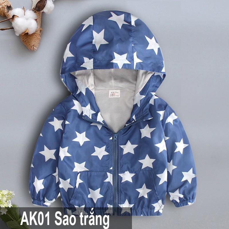 Áo Gió 2 Lớp Lót Nỉ Hàng Quảng Châu dành cho bé trai bé gái AK01