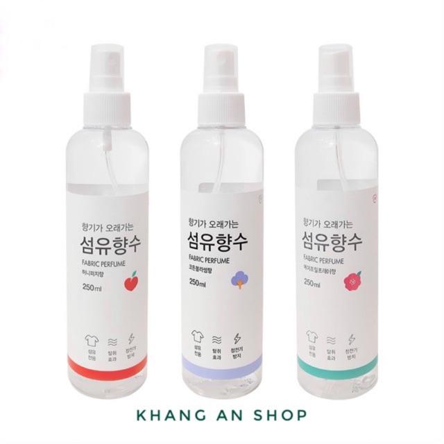 Xịt thơm quần áo Fabric Ferfume 250ml Nội địa Hàn