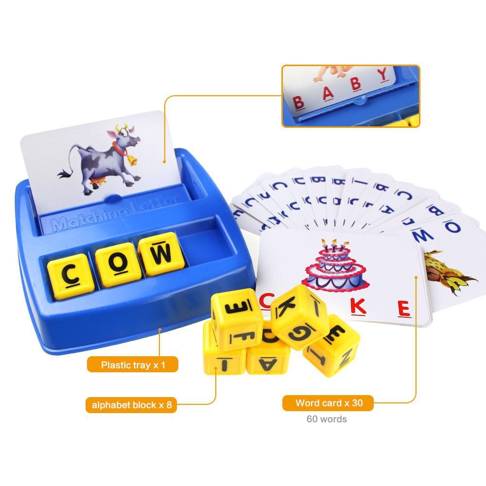 Trò chơi lắp chữ, nhận diện chữ cái cho bé mẫu giáo