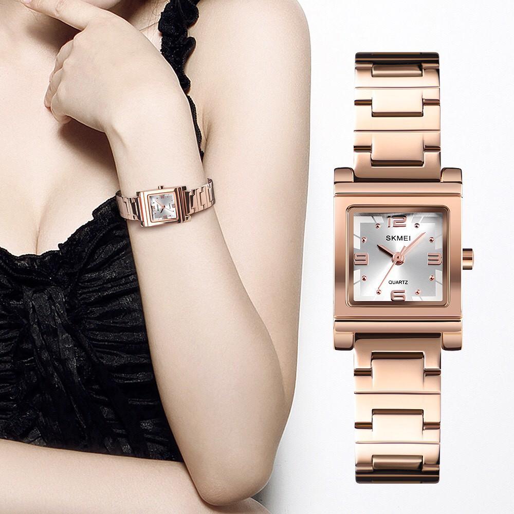 [CHÍNH HÃNG] Đồng hồ nữ SKMEI 1388 dây thép cao cấp phong cách thượng lưu