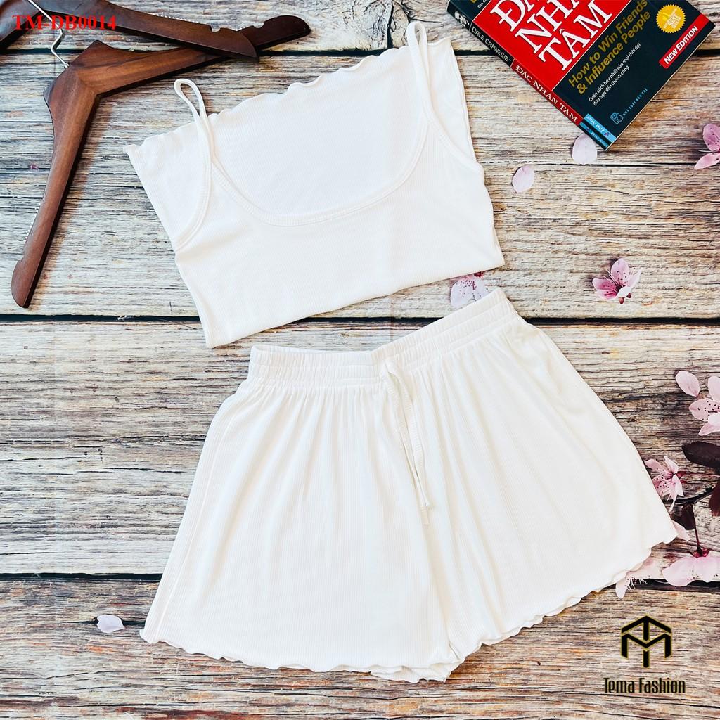 Mặc gì đẹp: Gọn tiện với Đồ bộ nữ TEMA - Đồ ngủ nữ mặc ở nhà chất len tăm lạnh mát mịn siêu xinh