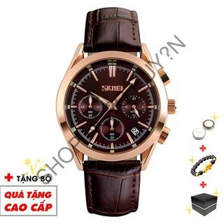 Đồng hồ nam SKMEI chính hãng chạy full 6 kim dây da phong cách nam tính lịch lãm SME39  -SHOP NGỌC HUYỀN