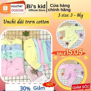 Quần áo trẻ em📌FREESHIP📌Quần áo sơ sinh Unchi chất cotton mềm,không xù, thấm hút mồ hôi | Size từ 3-9kg| phân trai gái