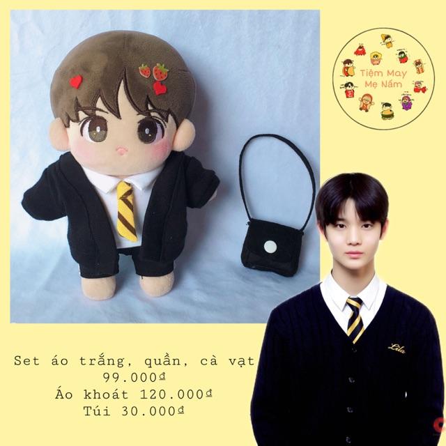 Outfit doll: Bộ đồng phục lila cho doll 15-20cm
