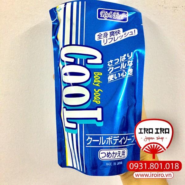 Sữa tắm Bạc Hà Cool Rich Feel Nhật Bản 300ml (dạng túi)