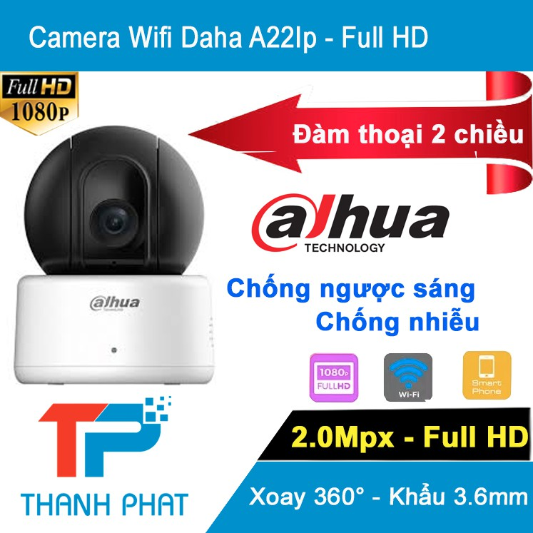 Camera IP Robo Dahua IPC – A22IP – 2.0mp - Bảo Hành 2 Năm