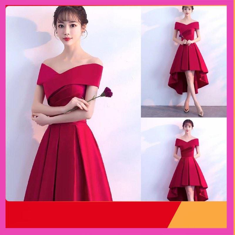 [Giảm Giá] Đầm Đỏ Gấm Hàn Công Chúa Kèm Ảnh Thật Cao Cấp