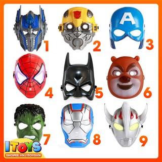 Mặt nạ Marvels, Siêu nhân, Anh hùng (nhiều nhân vật) Mặt nạ hóa trang Cosplay ITOYS – HT1 mã ZU87