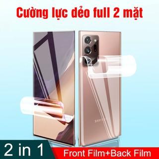 Combo dán cường lực dẻo Samsung Note 20 ultra, Note 20 full 2 mặt đáng dán nhất