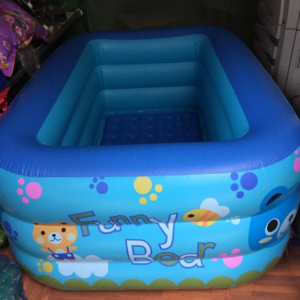 Phao tắm 3 tầng rộng 1m50 cho bé tha hồ tắm