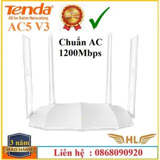 Bộ Phát Wifi Xuyên Tường Tenda AC5 V3 4 Râu Màu Trắng ,Tenda AC7 5 Râu Chuẩn AC1200Mbps, Tenda N301 – Hàng Chính Hãng