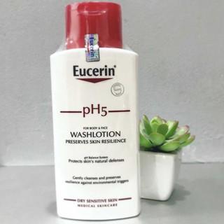Eucerin Sữa tắm dạng gel pH cho da nhạy cảm (có mùi) Eucerin pH5 Washlotion 200ml