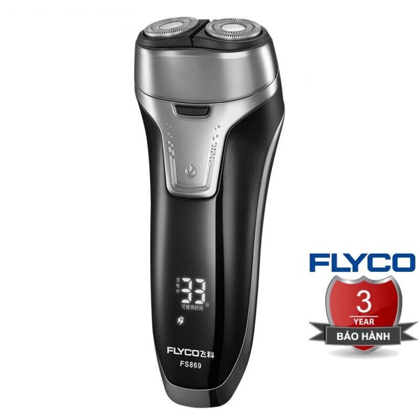 [TEM FLYCO] Máy Cạo Râu Nam FS869 Flyco 3 Lưỡi Dao Thông Minh II Bảo Hành 36 Tháng (Tỉa Bấm Tông Đơ Cắt Tóc Mai) FS867