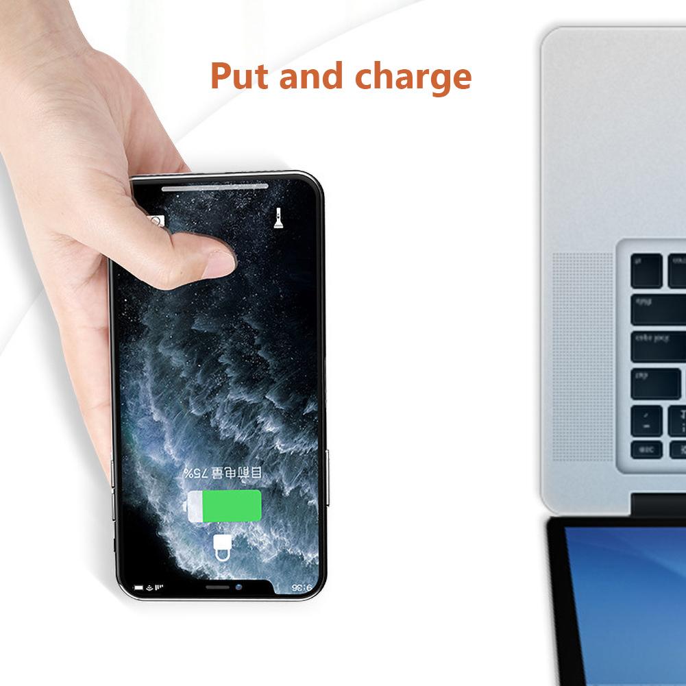 Đế Sạc Nhanh Không Dây 5w Có Giác Hút Tiện Dụng Cho Iphone