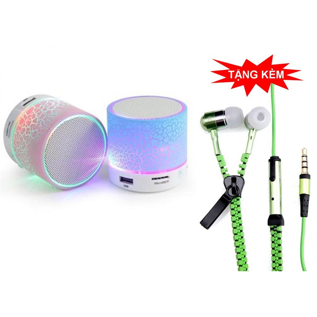 Loa Bluetooth có dèn LED nháy theo nhạc + Tặng tai nghe khóa kéo Zipper (Màu tùy chọn) - 3282160 , 1197296001 , 322_1197296001 , 115000 , Loa-Bluetooth-co-den-LED-nhay-theo-nhac-Tang-tai-nghe-khoa-keo-Zipper-Mau-tuy-chon-322_1197296001 , shopee.vn , Loa Bluetooth có dèn LED nháy theo nhạc + Tặng tai nghe khóa kéo Zipper (Màu tùy