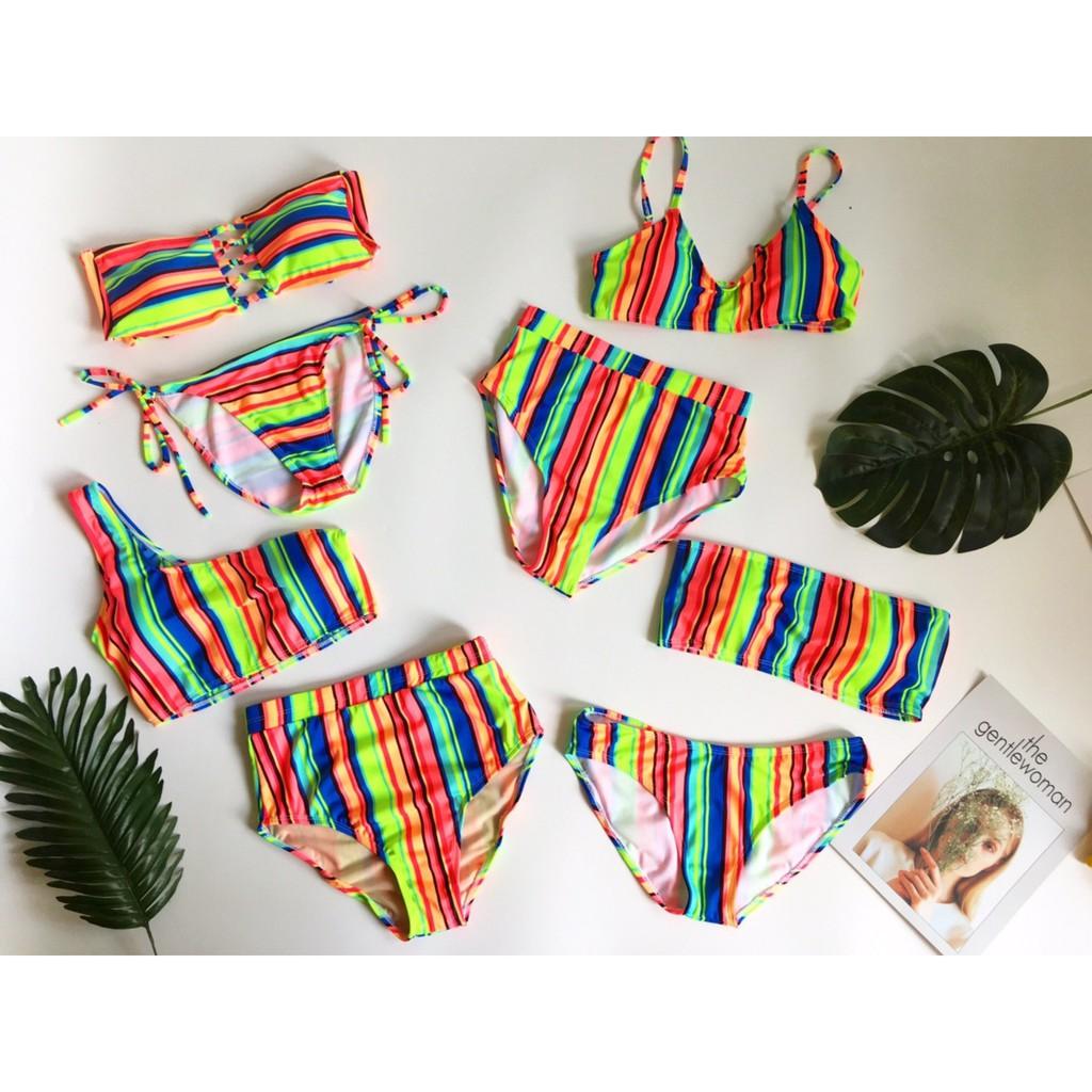 Bikini sọc 7 màu siêu cưng