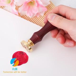 [Spot] Creative Vintage Sakura Rabbit Fire Paint Seal Envelope Sealing Invitation Wax Stamp Gift Set