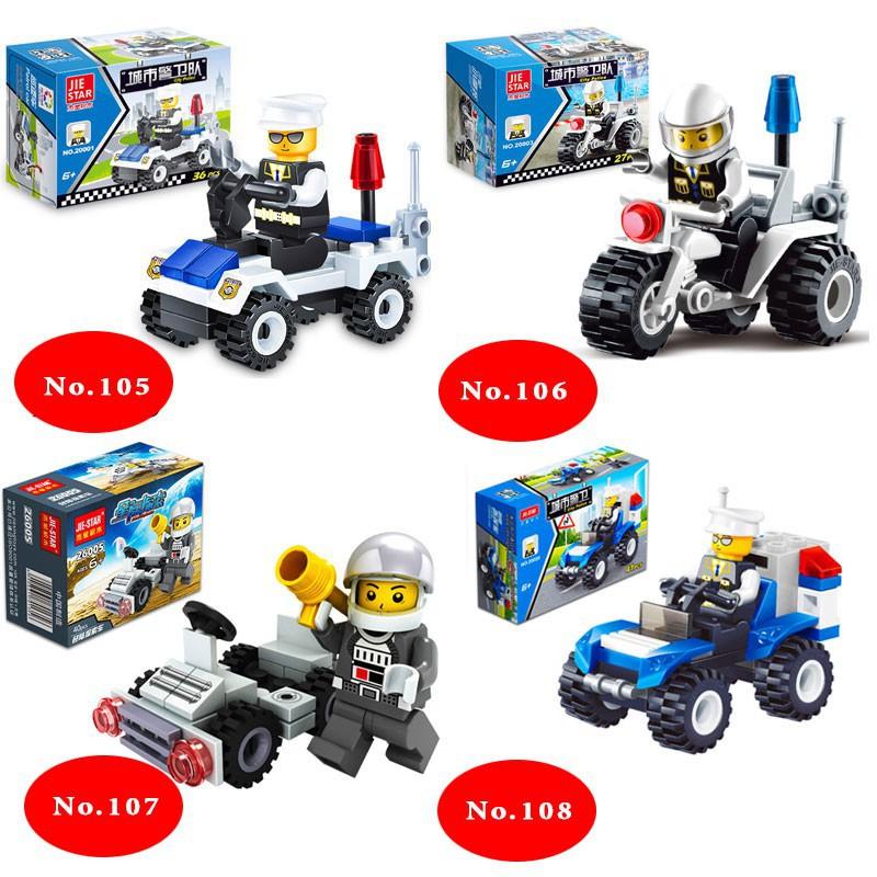 Đồ chơi lắp ghép các loại xe và thú Mini Giao hàng ngẫu nhiên Lego Style