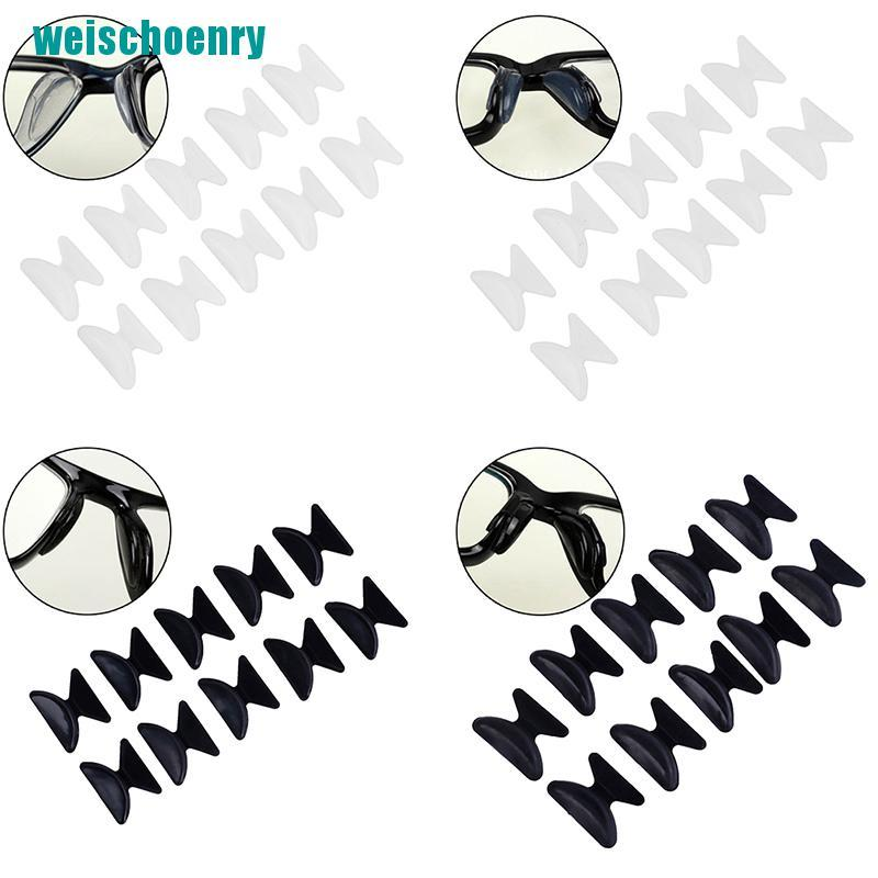 ry●5Pairs Glasses Eyeglass Sunglass Spectacles Anti-Slip Silicone Stick On Nose Pad