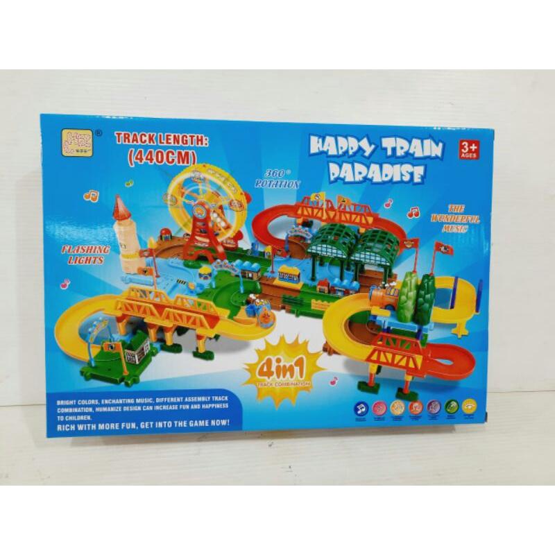 Bộ đồ chơi đường ray xe lửa 4 trong 1 cho bé