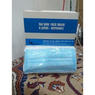khẩu trang y tế 4 lớp kháng khuẩn hộp 50c