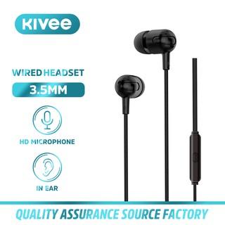 Tai nghe có dây KIVEE MT28 Âm trầm trong tai âm thanh nổi 3.5 mm với micrô hỗ trợ đàm thoại rảnh tay thumbnail