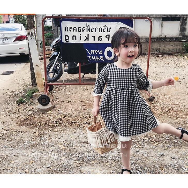 Đầm caro cực xinh cho bé gái từ 1-10 tuổi