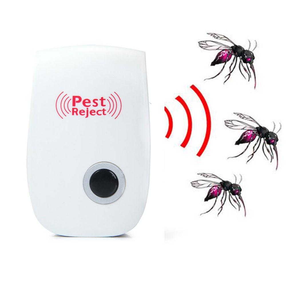 US EU Plug Ultrasonic Pet Repeller Anti Mosquito Pest Rat Reject YMS