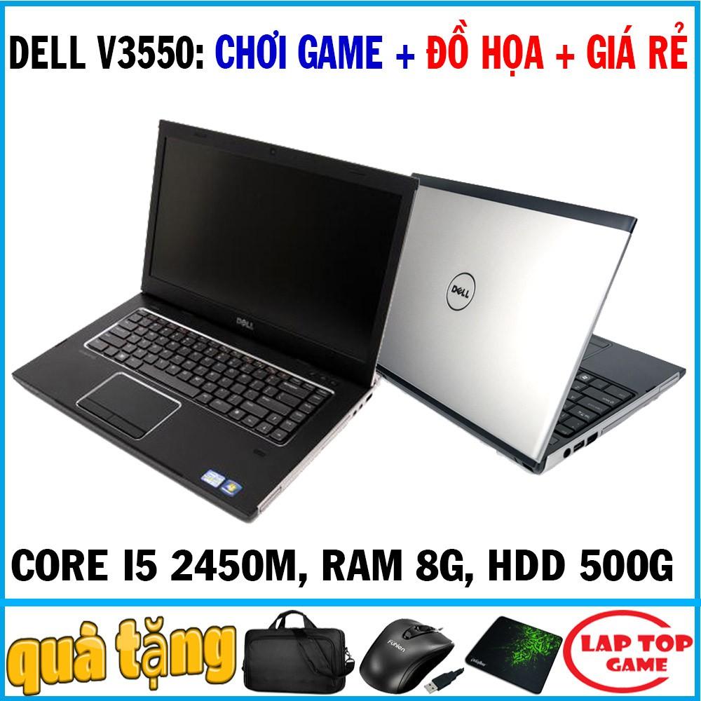 [Mã ELLAPDESK giảm 5% đơn 3TR] chơi game đồ họa giá rẻ Dell Vostro V3550 Core i5 2450M, laptop cũ cơ bản chơi game