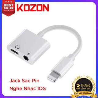 Jack Cổng chuyển đổi KOZON dành cho IOS sạc pin nghe nhạc cùng lúc