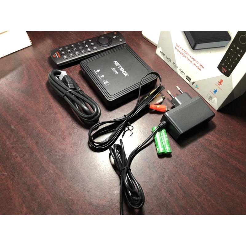 Android TV Box NETBOX B68 Có Điều khiển giọng nói - RAM 4G ROM 32G Andoid 9.0 - NETBOX B68
