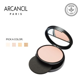 Phấn phủ Arcancil dạng nén Poudre Compacte Cover Match Matifying compact powder High coverage, Long Lasting- SPF15 9g