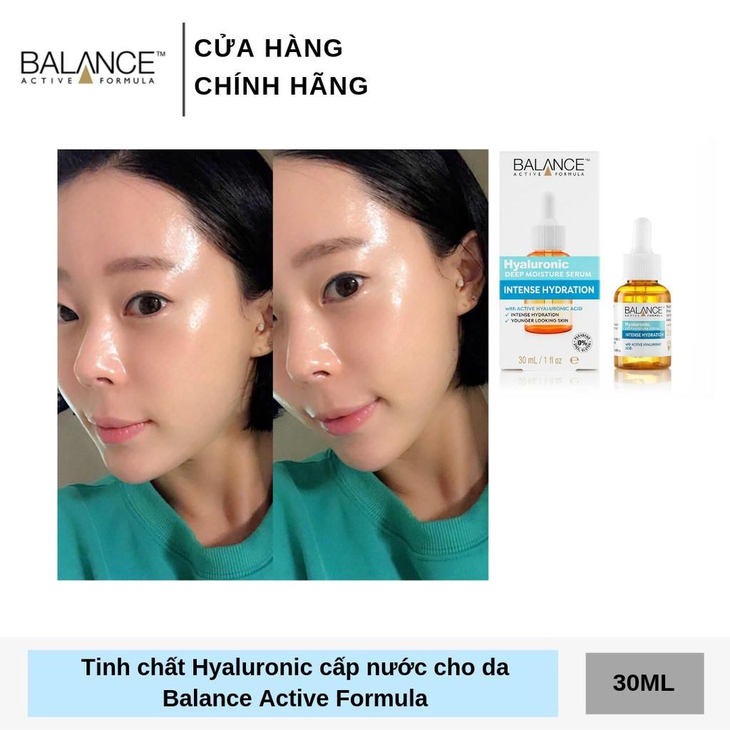 Combo trắng da căng mượt serum Vitamin C + serum Hyaluronic Balance Active Formula 30ml/ chai