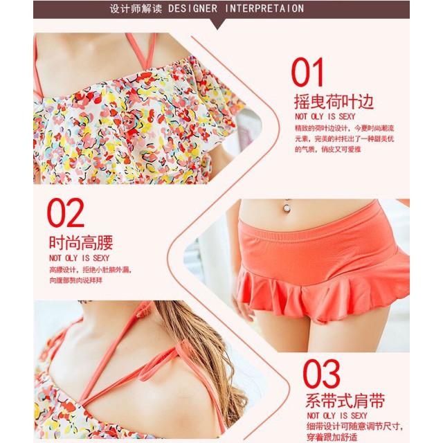 Ảnh Thật Bikini Áo Tắm Đi Biển 3 Chi Tiết Váy Bơi Đi Biển Gợi Cảm Sexy đẹp | BigBuy360