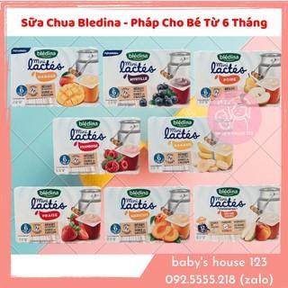 (Date t4-5 2021) Sữa Chua Bledina Pháp Nhiều Vị Cho Bé Từ 6 Tháng - Lốc 6 Hộp thumbnail