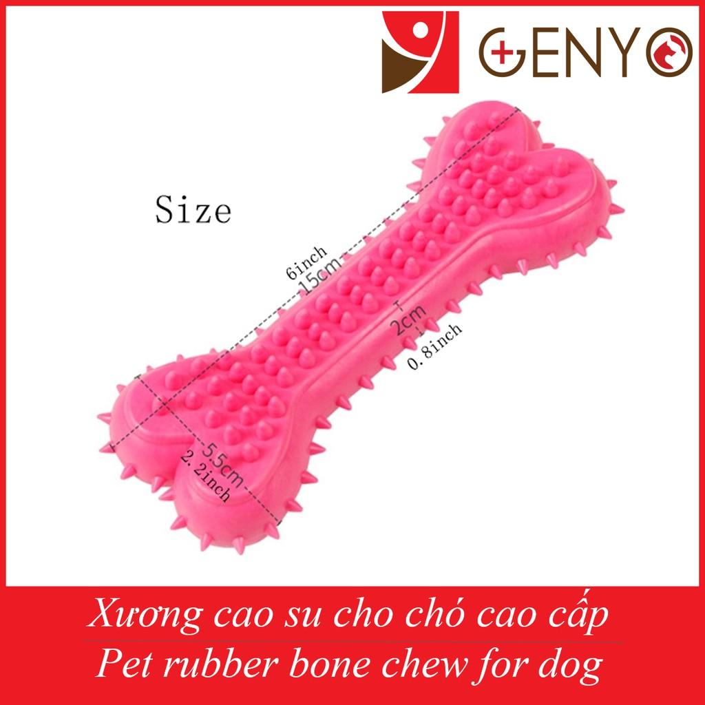 Đồ chơi cao su gặm cho chó Genyo - Đồ chơi 204 ( màu ngẫu nhiên )