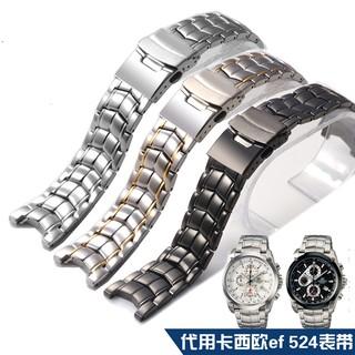 Dây Đeo Inox Cho Đồng Hồ Casio Ef 524 21mm