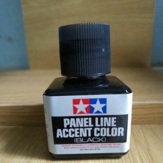 Panel line accent color dung dịch đi line mô hình black