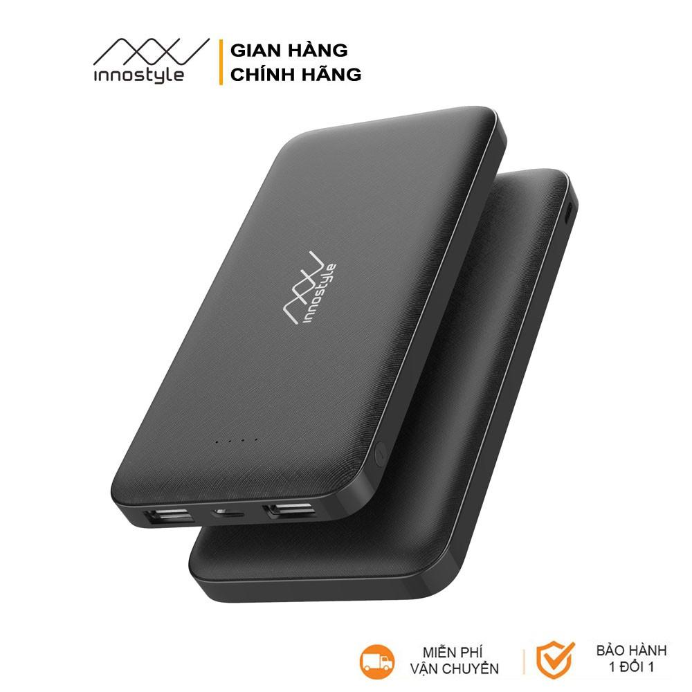 Pin Sạc Dự Phòng INNOSTYLE PowerGO Smart AI 10000mAh - Hàng Chính Hãng -  Black - IP10SA-BLK
