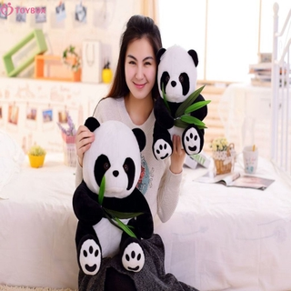 TOYBOX Cute bamboo leaf panda doll mother and child panda plush toy TOYBOX