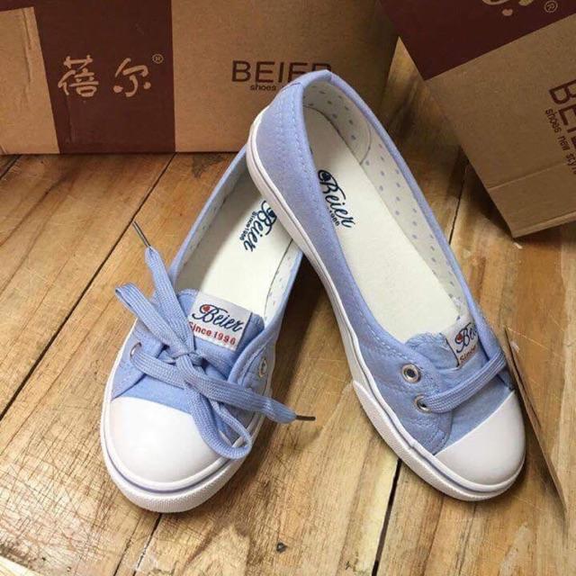 giày thể thao beier xanh ngọc sz 38