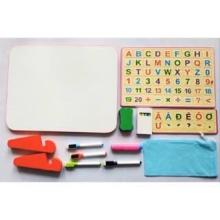 Bảng học chữ cái song ngữ anh việt và học toán, phép tính cho bé