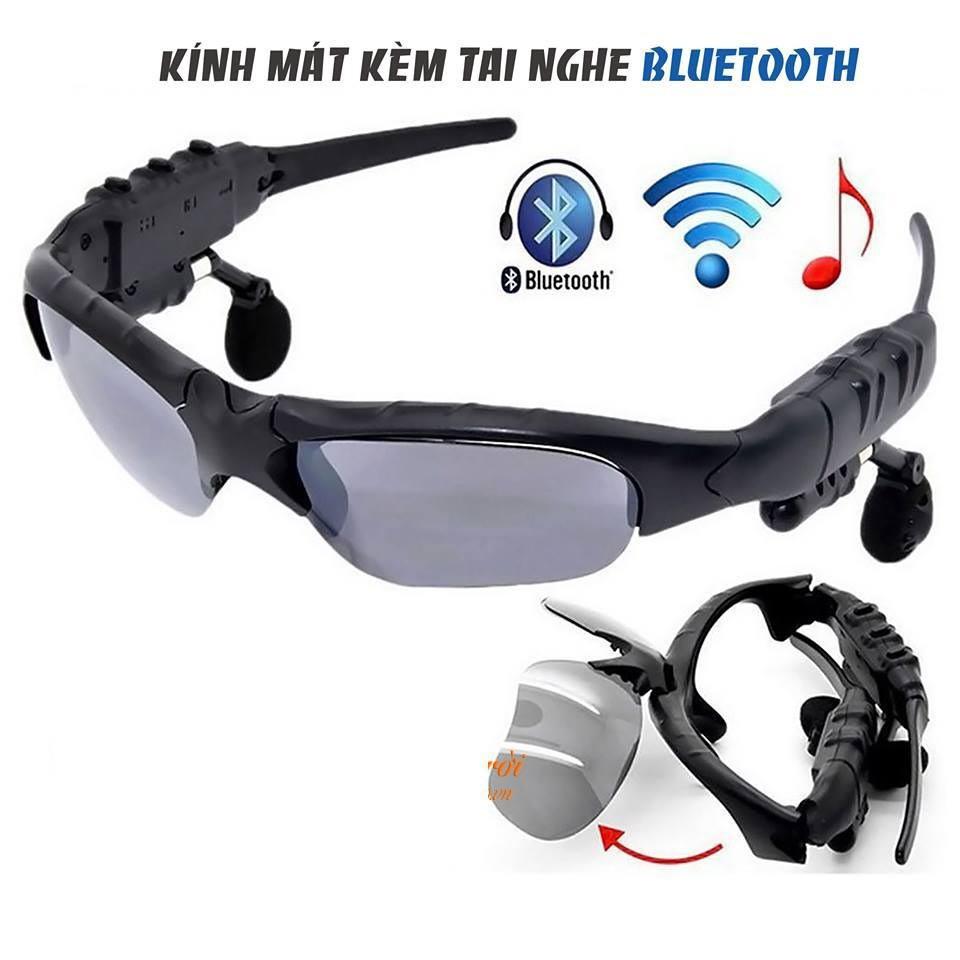Mắt kính thời trang bluetooth - màu đen
