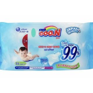 Khăn ướt GOON chính hãng Thái 55 miếng/ bịch