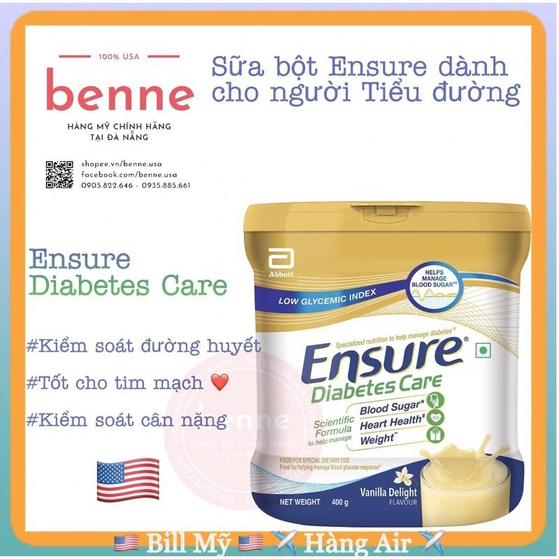 [Bill Mỹ] Sữa Ensure Diabetes dành cho người tiểu đường, Ensure Diabetes