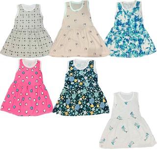 Váy ba lỗ bé gái chất mát mùa hè cho bé từ 1-5 tuổi (8-25kg) Song An Eco Giao mầu ngẫu nhiên