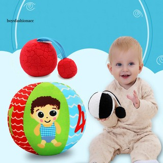 BOYS Baby Eyesight Training Soft Hand Grasp Ball with Sound Kid Early Educational Toy