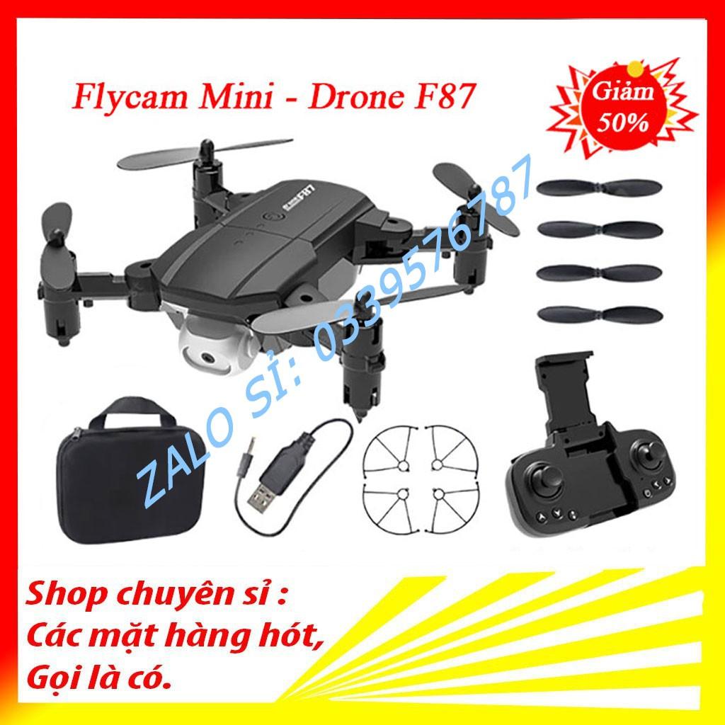 Flycam mini, Flycam giá rẻ, Máy bay flycam điều khiển từ xa Drone F87, camera kép chống rung quang học